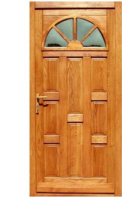 Extra hőszigetelésű fa bejárati ajtó