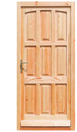 Tömörfa bejárati ajtók