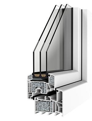 Műanyag ablak alacsony energiafelhasználású házhoz